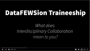 Video of how cohort 1 relates to interdisiplinary collaboration
